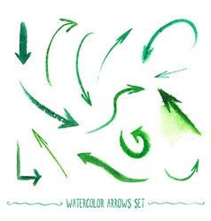 Watercolor arrows set vector image