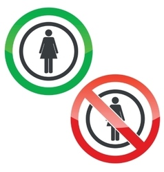 Woman permission signs vector