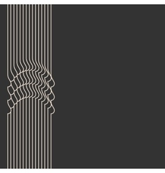 Waved stripes vintage style background cover vector