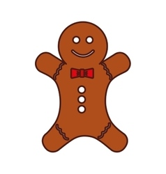 Christmas ginger bread decorative icon vector