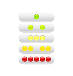 Green red yellow balls for web vector