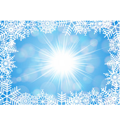 Snowflake frame with background vector