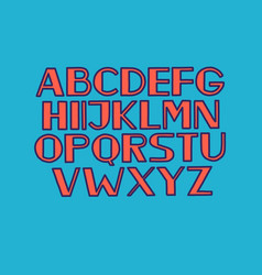 Font alphabet type uppercase letters vector