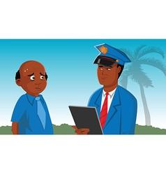 policeman suspect vector image