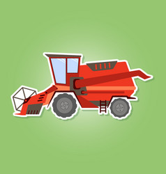 Icon with farm combine vector