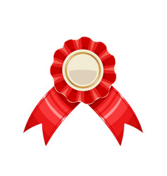 Award medal with red ribbon vector