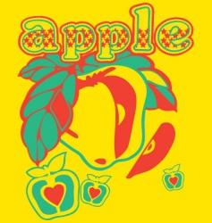 apple illustration vector image