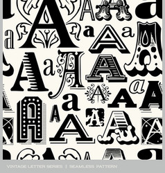 Seamless vintage pattern letter a vector