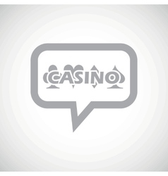 Casino grey message icon vector