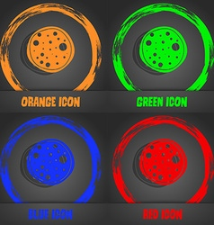 Pizza icon fashionable modern style in the orange vector