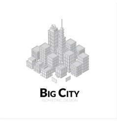 Aerial view of big city outline design with vector