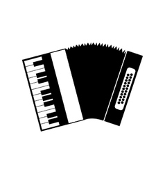Accordion black icon vector