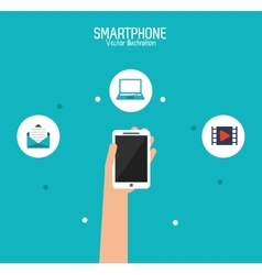 Smartphone and communication design vector