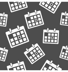 Calendar icon pattern vector image