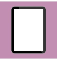 Computer tablet with template screen vector image