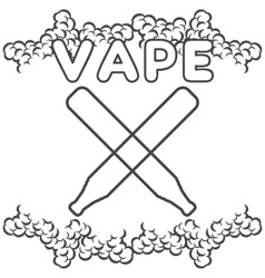 Emblem or logo electronic cigarette vector
