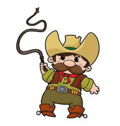 Cowboy with whip vector