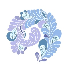 Abstract flourish design element vector image vector image