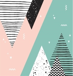 Abstract geometric Scandinavian style pattern with vector image