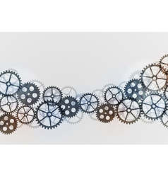 Abstract technical background with gears vector image