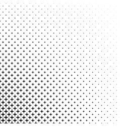 black and white star pattern vector image