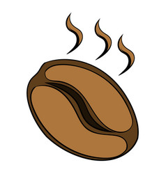 coffee bean icon cartoon vector image
