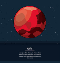 Colorful poster with planet mars vector