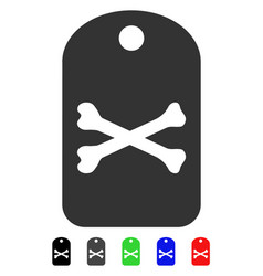 Death tag flat icon vector