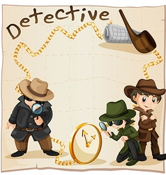 Detectives looking for clues vector