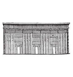Egyptian sarcophagus or tomb of stone stone chest vector