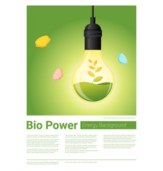 Energy concept background with bio energy in vector