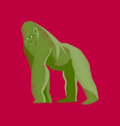flat shading style icon gorilla vector image