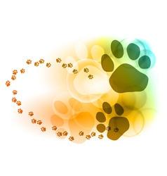 Foot mark vector