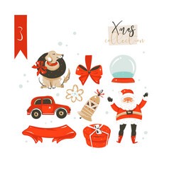 hand drawn abstract cartoon classic merry vector image