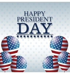 Happy president day balloons creative decorative vector