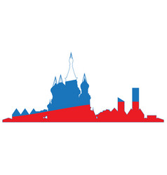 Isolated cityscape of moscow vector