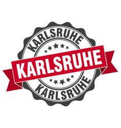 Karlsruhe round ribbon seal vector