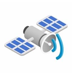 Satellite communications isometric 3d icon vector
