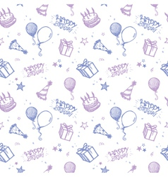 seamless birthday wallpaper vector image vector image