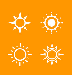 Sun logo elements vector