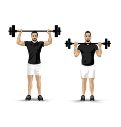 training weight lifting vector image