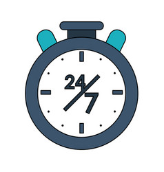 Twenty four hours seven days service symbol vector