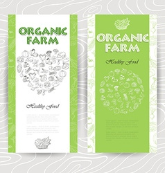 Vegetable card template Organic farm vector image vector image