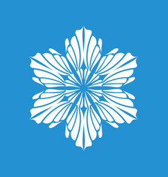 Winter snowflake icon simple style vector