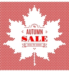 Autumn sale banner background maple leaf fall vector