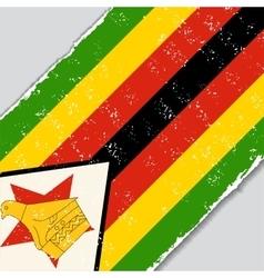 Zimbabwe grunge flag vector image