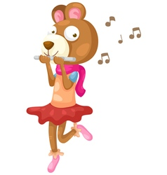 Bear music vector