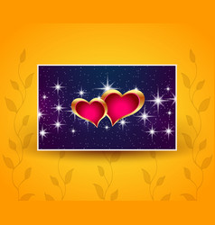 beautiful greeting banner with hearts vector image