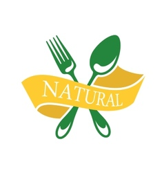 Restaurant icon depicting natural food vector image