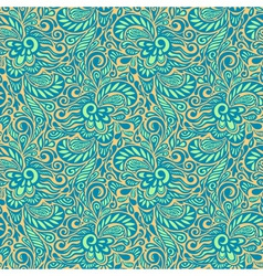 Seamless abstract curly floral pattern vector